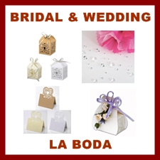 Bridal and Wedding decoration, party boxes, places settings
