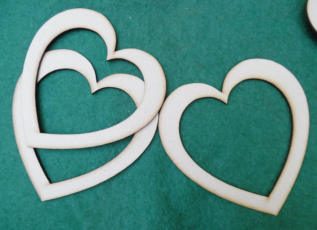 vendemos plantillas de forma corazón de madera para manualidades ...