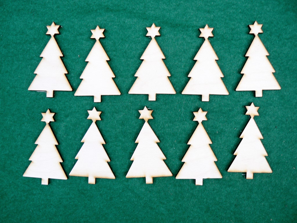christmas tree tag 7cm solid - Decorative Christmas Gift Tags