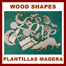 Wood Craft shapes for craft and designers